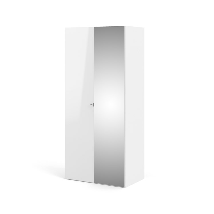 Save 100 cm Wardrobe with 1 smooth door + 1 mirror door (220x58)