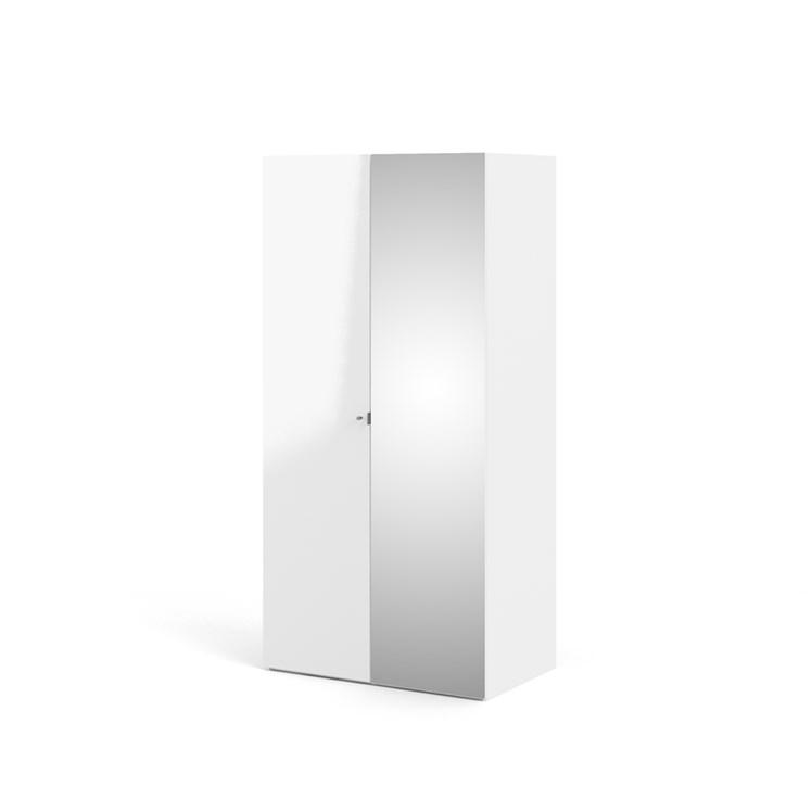 Save 100 cm Wardrobe with 1 smooth door + 1 mirror door (200x58)