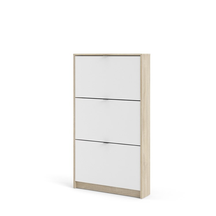 Shoes Shoe cabinet  w. 3 tilting doors and 1 layer