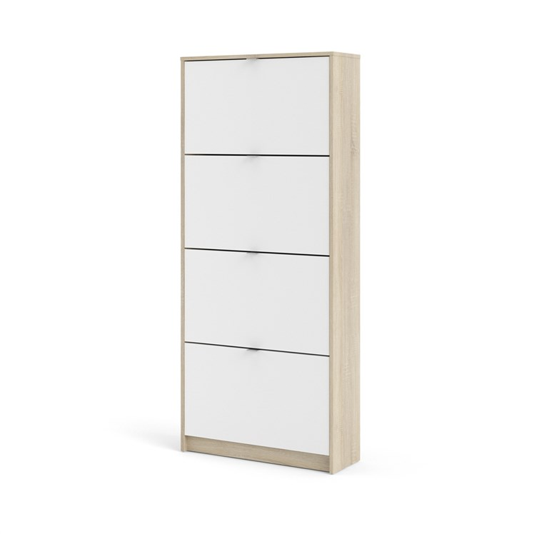 Shoes Shoe cabinet  w. 4 tilting doors and 2 layers