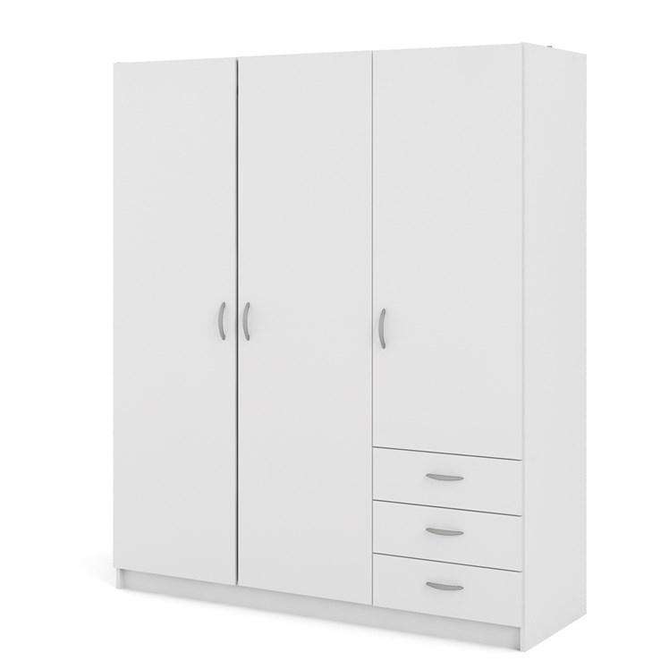 Focus Wardrobe with 3 doors + 3 drawers