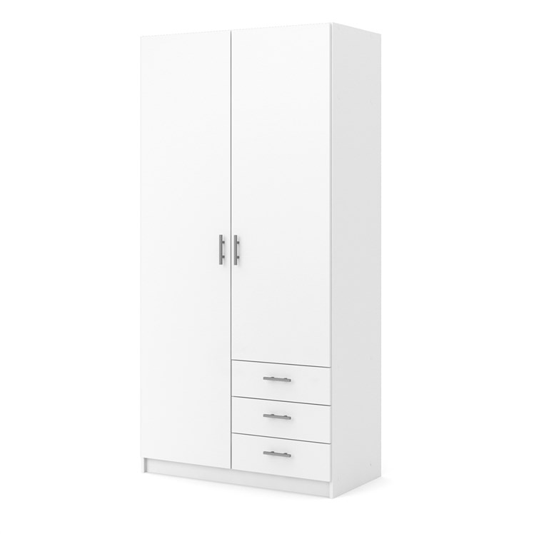 Sprint Wardrobe with 2 doors + 3 drawers