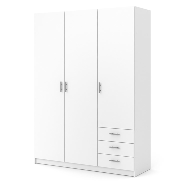 Sprint Wardrobe with 3 doors + 3 drawers