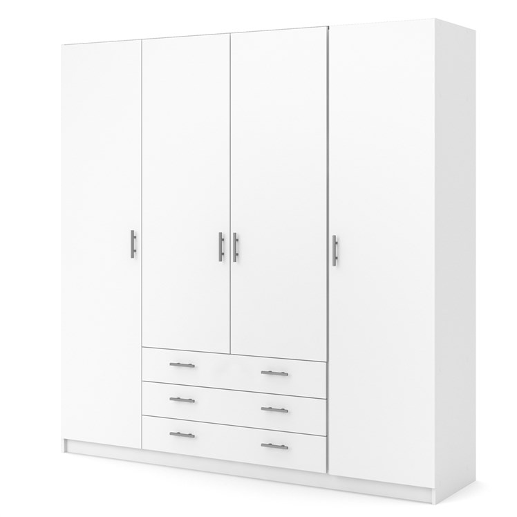 Sprint Wardrobe with 4 doors + 3 drawers