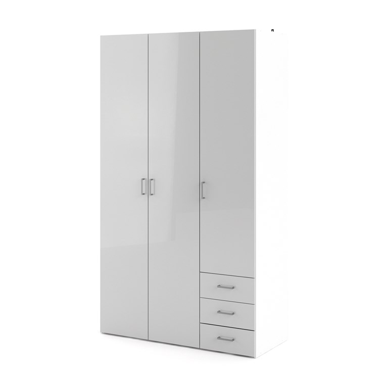 Space Wardrobe with 3 doors + 3 drawers (200)