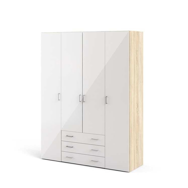 Space Wardrobe with 4 doors + 3 drawers (200)
