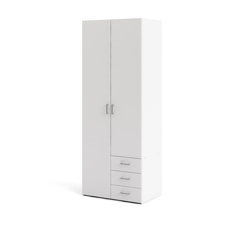 Space Wardrobe with 2 doors + 3 drawers (200)