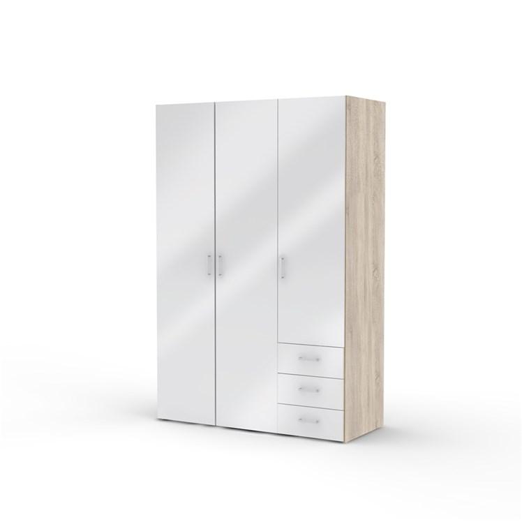 Norvic Wardrobe 3 doors + 3 drawers