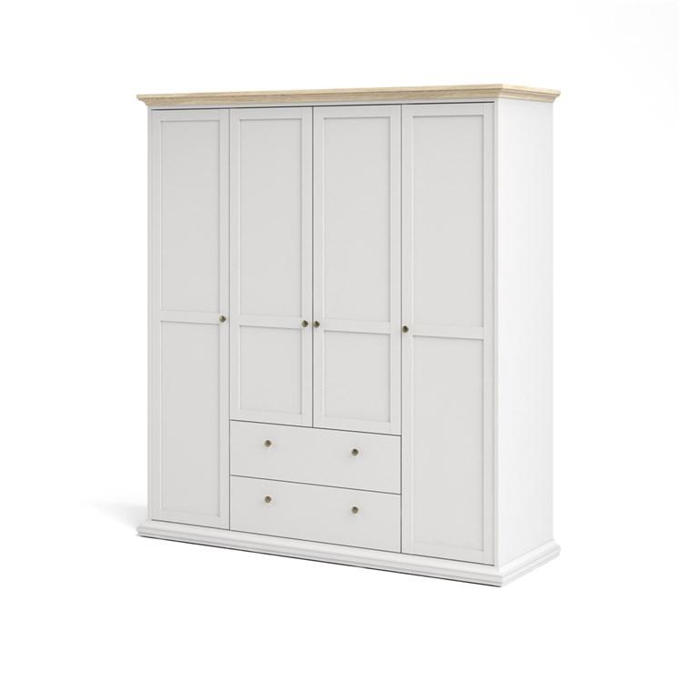 Paris Wardrobe with 4 doors + 2 drawers