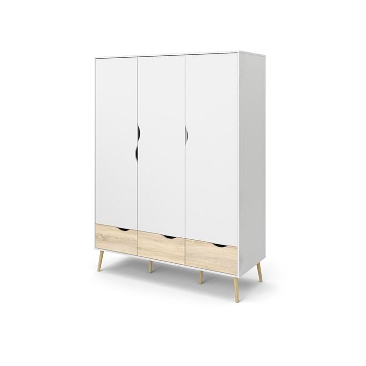 Oslo Wardrobe 3 doors + 3 drawers