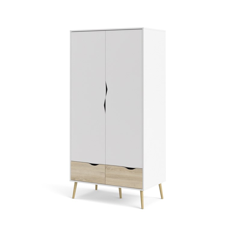 Oslo Wardrobe with 2 doors + 2 drawers