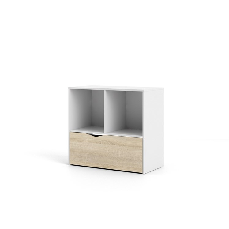 Oslo Bookcase with 1 drawer