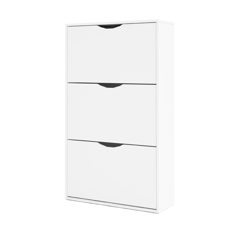 Idskov Shoe cabinet  w. 3 tilting doors and 2 layers