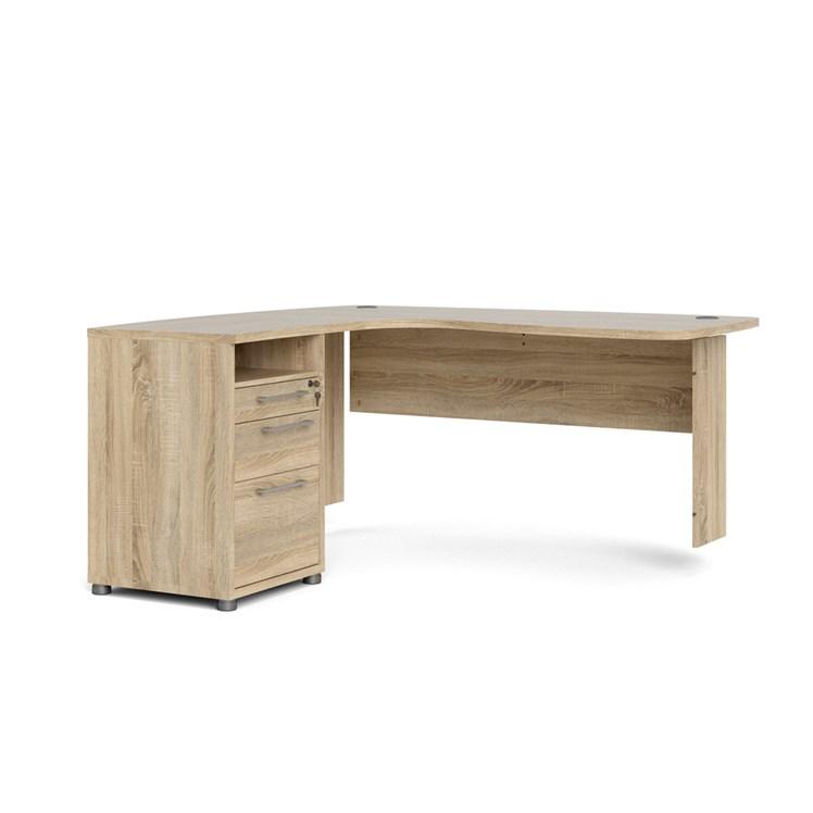 Prima Corner desk top with cabinet Oak structure